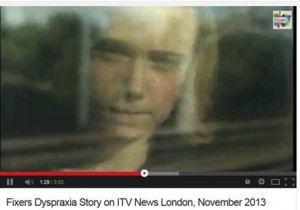 Fixers, dyspraxia sdtory on ITV London November 2013