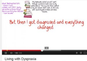 Living with dyspraxia film