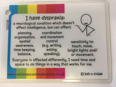 dyspraxia writing essays Dyspraxia in the classroom: what is it and how can we help if possible, write down the steps (or essay plans • mind maps.