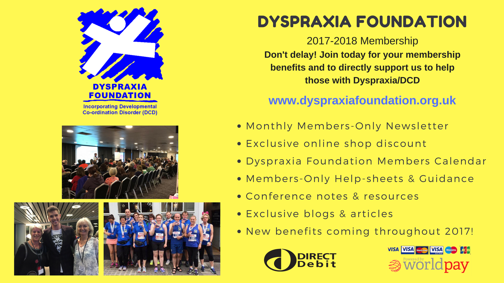 Join the Dyspraxia Foundation for 2017-18