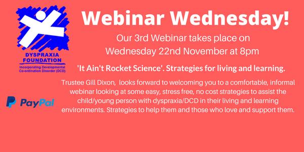 November Webinar – 'It Ain't Rocket Science'