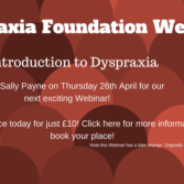 Dyspraxia Foundation Webinars